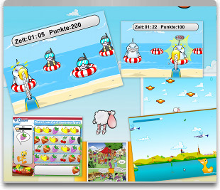 Kinderspiele in Flash